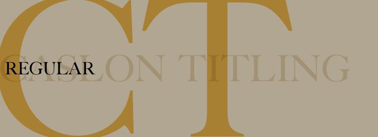 Caslon™ Titling