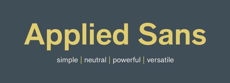 Applied Sans™