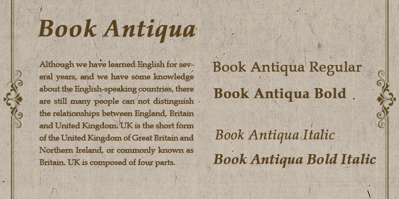 Book Antiqua™