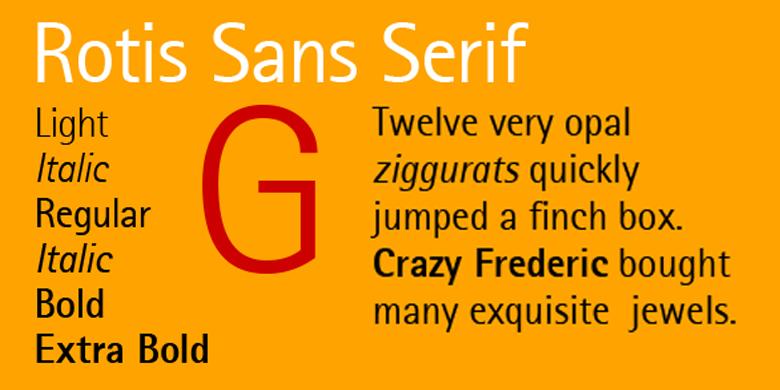 Rotis® Sans Serif