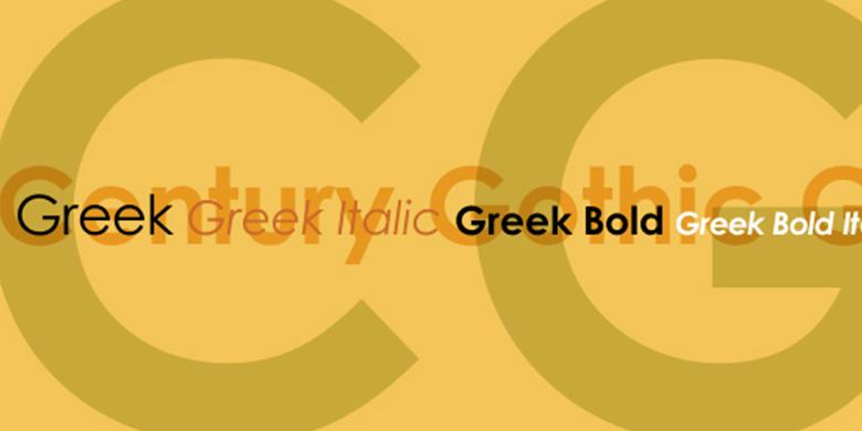 Century Gothic™ Greek