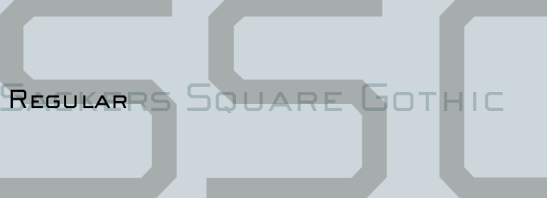 Sackers™ Square Gothic