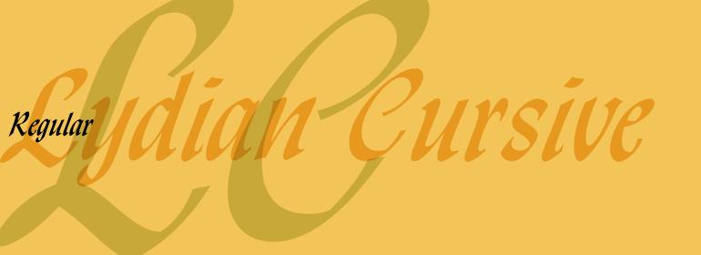 Lydian™ Cursive